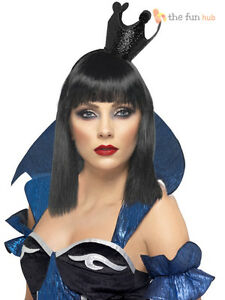 Evil queen of hearts crown alice snow white black halloween fancy dress book day 5020570283141 - Blanche neige halloween ...