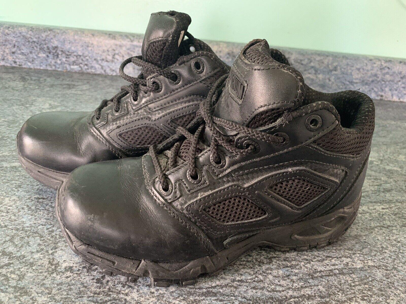 Magnum Elite Spider 5.0 Black Leather / Nylon Uniform Police Boots /Trainer UK 3