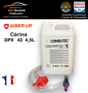Additif FAP cerine DPX 42 Blanc F.A.P Combutec 1  4,5L  Warm Up CITROEN PSA FORD