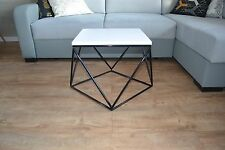 Handicraft Industrial Coffee Table Modern Handmade White Board Steel Legs UK