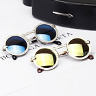 Vintage Round Mirror Lens Arrow Frame UV400 Sunglasses Women Men Unisex Glasses
