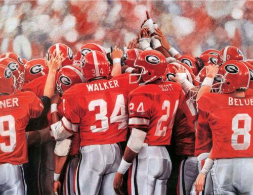 "Georgia Bulldogs 1980 Championship Print /""Glory Days/"""