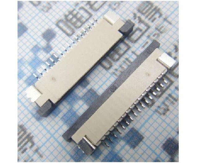 2x FFC FPC 16-pin 1.0mm 1mm Pitch Ribbon Flat Connector Socket ZIF HDD DIY New