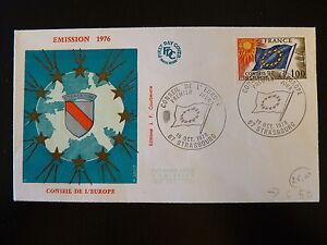 France Premier Jour Fdc Yvert S 49 Conseil De L Europe 1f Strasbourg 1976 Rendre Les Choses Commodes Pour Le Peuple