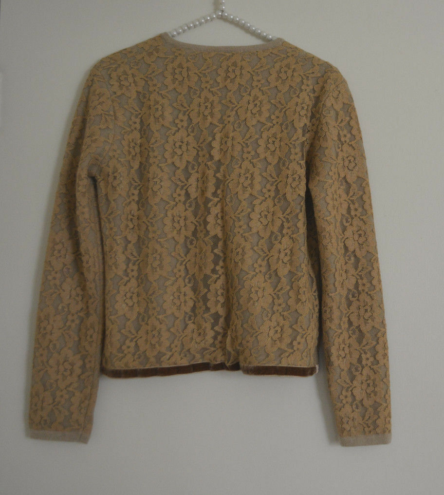 S Anthropologie Lambswool Sequin  Lace Cardigan Cardigan Cardigan  Sweater 6f773c