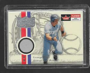 2001 Fleer Platinum - GEORGE BRETT - Rivals Game Used Jersey - ROYALS