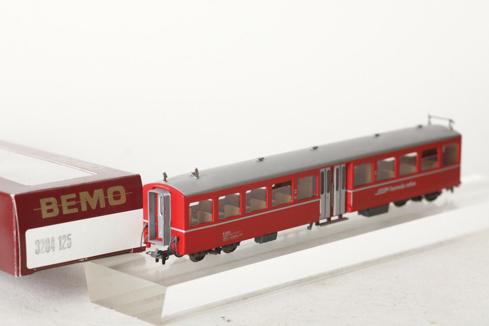 Bemo H0m 3284 125 Mitteneinstieg Rhb Ferrovia Retica B2335 Rosso Conf. Orig.
