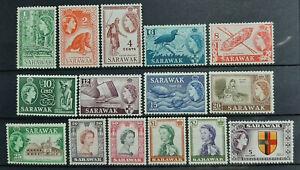 SARAWAK-MALAYSIA-1955-FULL-SET-SG-188-202-MH-OG