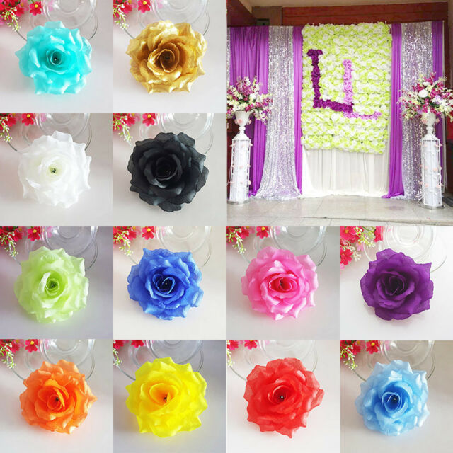 5/10PCS Rose Head Artificial Silk Flower Heads Wedding Party Home Decoration DIY