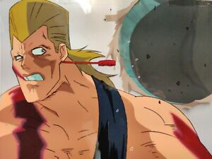 POLNAREFF-vs-ICE-END-SHOT-Jojo-Bizarre-Adventure-Cel-Animation-Art-1993-Painted