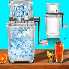 Manual Ice Crusher Shaver Portable Shredding Machine Hand Snow Cone Maker Party