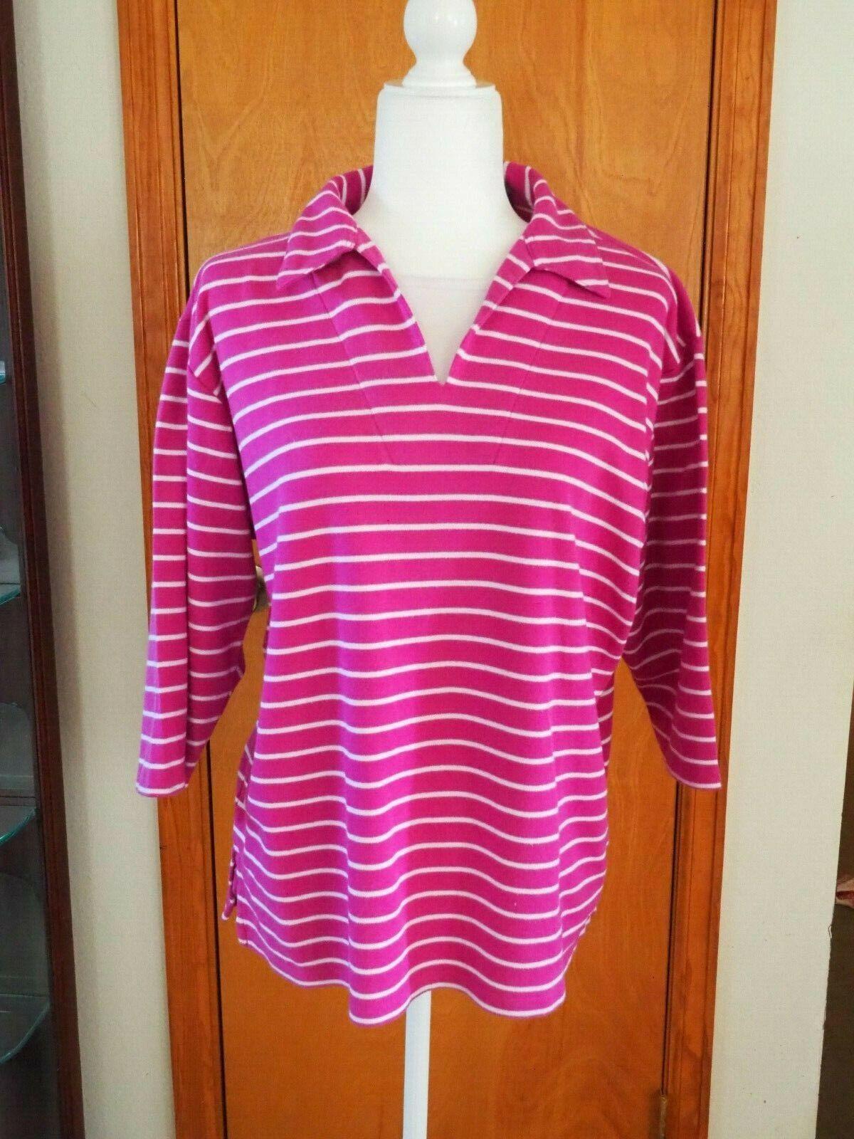 Karen Scott XL Women's Stripped Cotton Blend Pullover Top