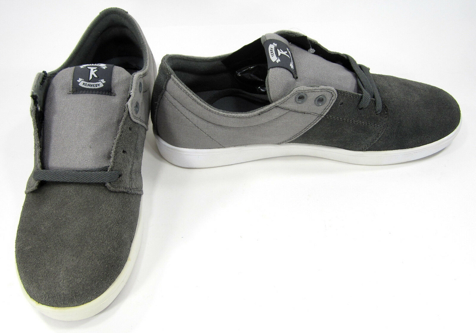 Supra Chaussures Stacks Lo Canvas/Suede Charcoal gris Sneakers