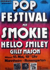 POP FESTIVAL - 1977 - Konzertplakat - Smokie - Hello - Smiley - Gilly Mason - MA