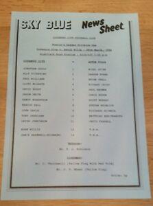 Coventry-City-Res-v-Aston-Villa-Res-Programme-29-03-94