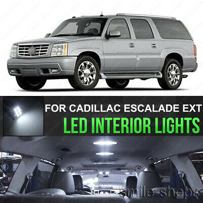 14pcs Blue LED Interior Lights Bulb Package Kit For Cadillac Escalade 2002-2006