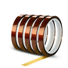 5 Rolls 10mm X 30m100ft High Temperature Heat Resistant Kapton Polyimide Tape