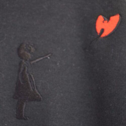 Wu Tang Clan x Banksy Street Art Method Man Black Hooded Sweatshirt Hoodie by AF
