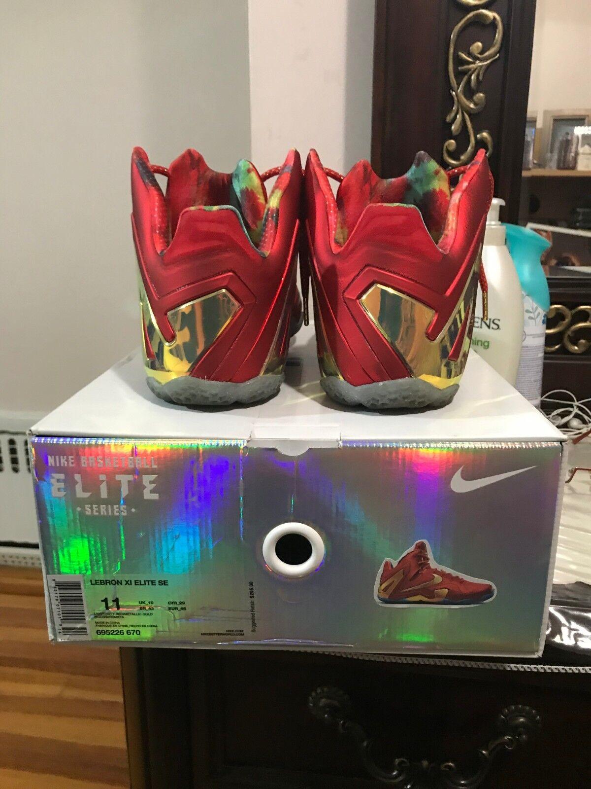 Nike Lebron 11 XI Elite Low SE Championship Red Size 11 w  extra laces