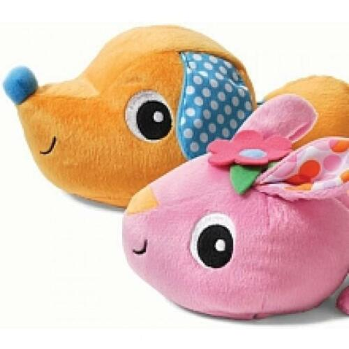CUTE! NEW Infantino Musical Mover Shaker Bunny//Rabbit /& Dog//Puppy