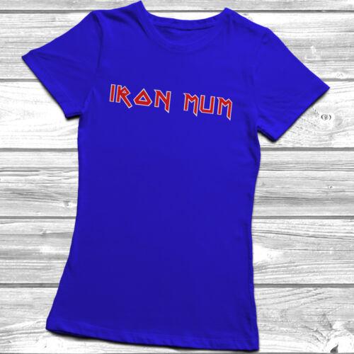Iron Mum T-Shirt Unisex Womens Mothers Day Gift Present Idea Birthday Metal