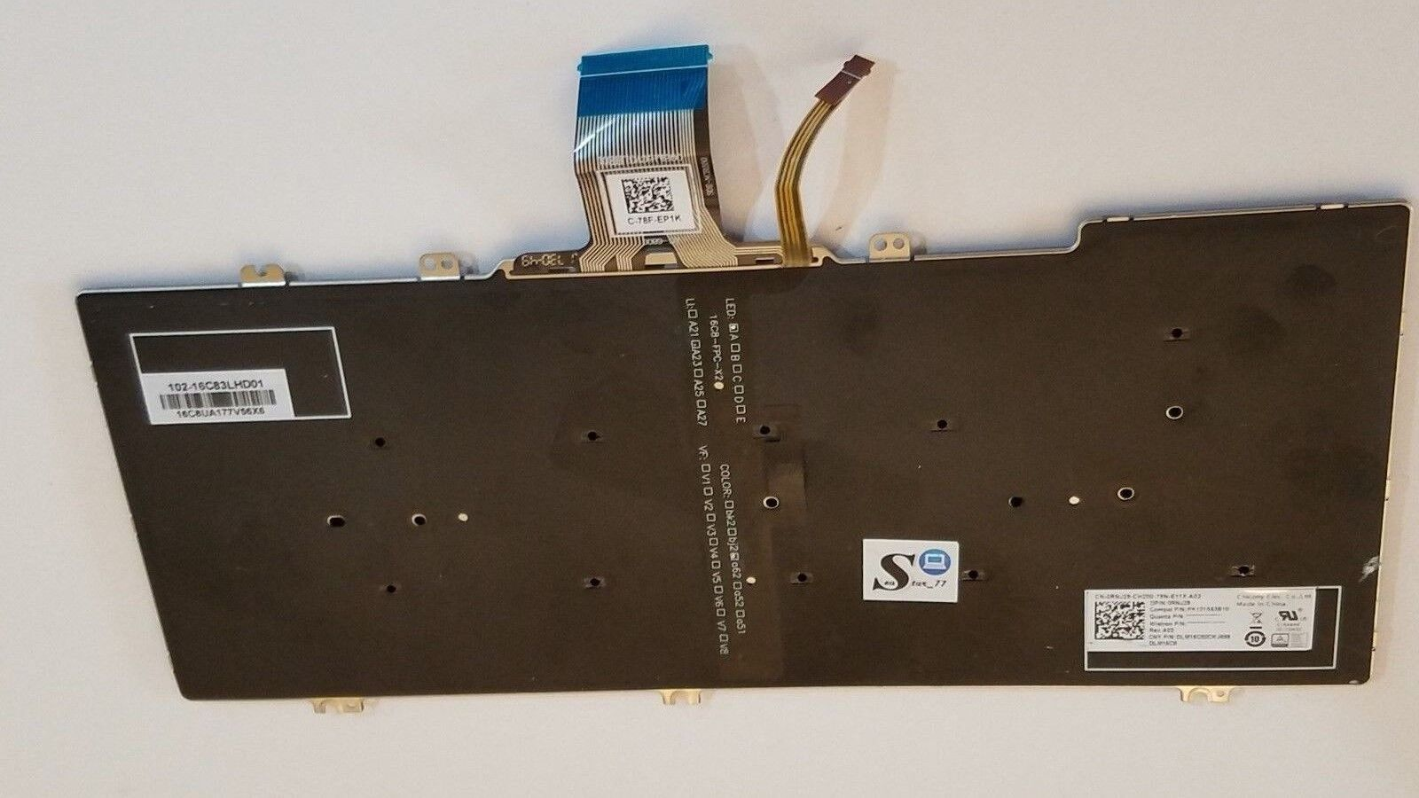New RNJ29 DELL Latitude 7380 7389 7390 2 in 1 Backlit French Clavier RNJ29