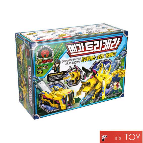 Dino Mecard MEGA TRICERA Great Triceratops Transformer Dinosaur Car Slope Toy