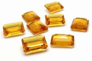 Citrine-Emerald-Cut-Natural-Loose-Gemstone-Rectangle-Bulk-Gem-Faceted-Cushion
