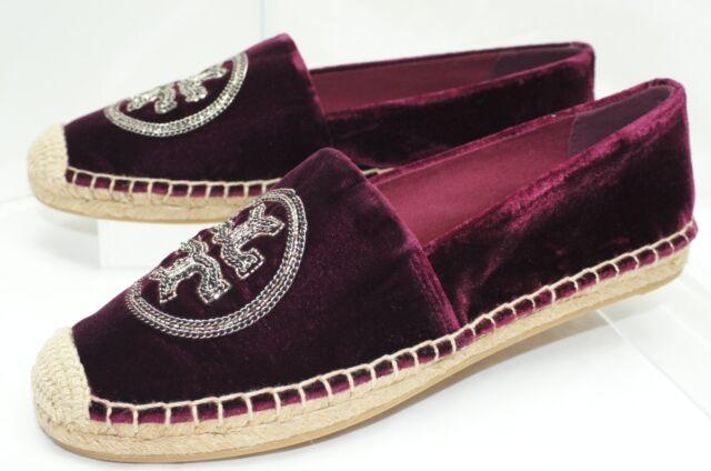 Tory Burch Logo Chain Espadrille Shoes