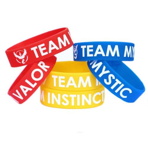 10 Bracelets votre choix de l/'équipe Mystic Valor Instinct Pokemon Go Bracelet Bandes