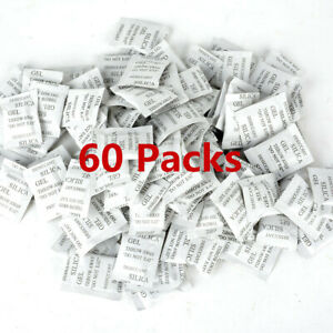 60-packs-Silica-Gel-Packets-Desiccant-Non-Toxic-Absorb-Moisture-Beads-Bags