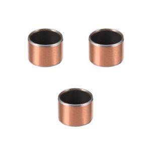 Sleeve (plain) Bearings 12mm Bore 14mm OD 10mm L Wrapped Oilless Bushings 3pcs