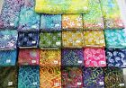 FLORALS SWIRLS PAISLEYS batik 100% cotton fabric flavor of India 1 yd x 44