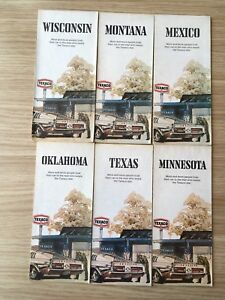 Texaco USA Mexico State Maps x6 Vintage Collectable - Grantham, Lincolnshire, United Kingdom - Texaco USA Mexico State Maps x6 Vintage Collectable - Grantham, Lincolnshire, United Kingdom
