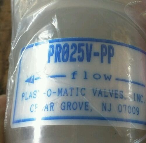 Plast-O-Matic PR025V-PP pressure regulator polypropelene body viton seals 5-50