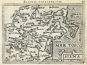 Cartina Stradale Toscana Umbria.Siena 1598 A Ortelius Antica Carta Geografica Originale Mappa Toscana Italia Ebay