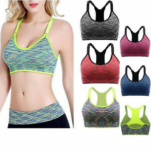 Women-Fitness-Yoga-Stretch-Workout-Tank-Top-Seamless-Racerback-Padded-Sports-Bra