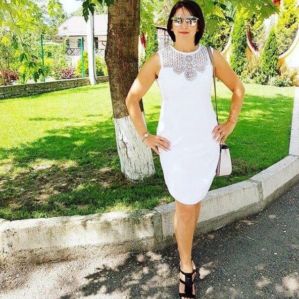 fa3c2b35340f Karen Millen pizzo all uncinetto Tribale Cutwork Festa Crociera Abito Bianco  Turno nnjsly2752-Vestiti
