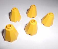 Lego (6039) 5 Kegel 8-eckig 2x2x1 2/3, in gelb aus 6199, 6195, 6159, 6125