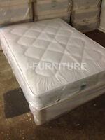 4ft6 Double Divan Bed+medium Firm 22cm Mattress Direct From Factory