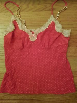 Clothing, Shoes & Accessories Banana Republic Lace Trim Cami Size Xs Reds Cotton/spandex Wide Selection;