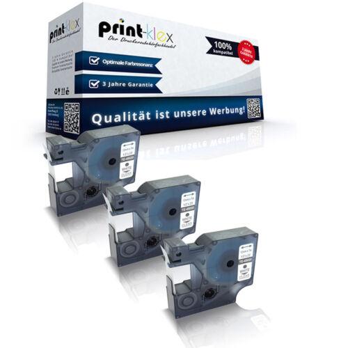 3x Alternative Schriftbänder für Dymo 45020 Weiss auf Farblos-Office Plus Serie