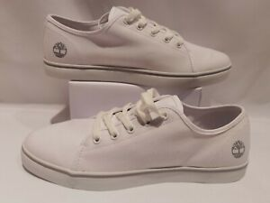 Timberland White Mens Canvas Shoes UK