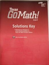 Grade 6 go math solutions key answer manual middle school 6th ebay go math texas grade 6 solutions key 6th answer manual fandeluxe Images