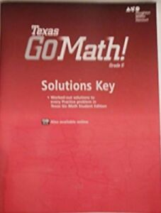 Details about Go Math Texas Grade 6 Solutions Key 6th Answer Manual