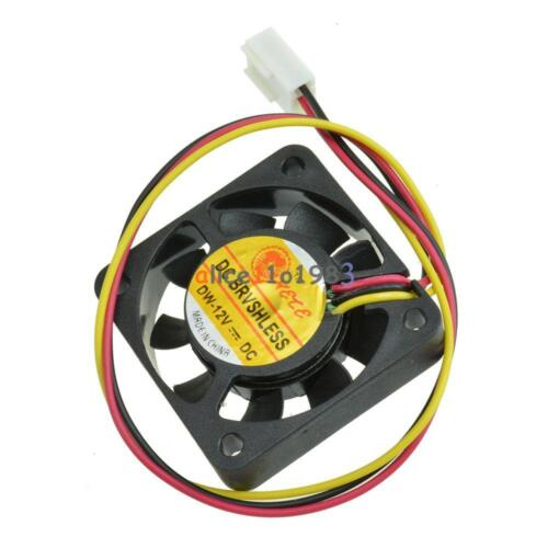10Pcs 3 Pin 4cm Computer CPU Cooler Cooling Fan PC 4cm 40x40x10mm DC 12V