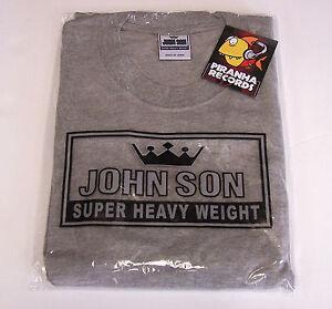 John-Son-Premium-Quality-Gray-T-Shirt-4XL-100-Cotton-Piranha-Records