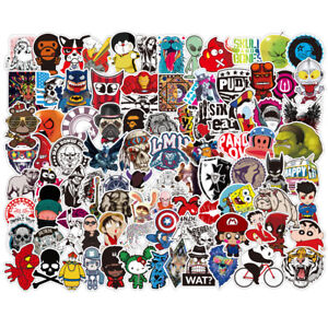 200-Random-Skateboard-Stickers-Vinyl-Laptop-Luggage-Decals-Dope-Sticker-Lot-Mix