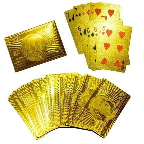 Deck of Cards Gold Plated Poker USA design Playing Cards NEW