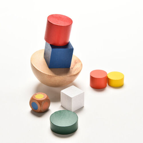 Colorful Wooden Balancing Game Children Educational Building Blocks Kid Toy SP